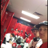 Junior John Weichel and the baseball team prepare for a game in their locker room.
