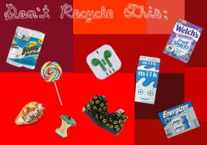 Some items that cannot be recycled.
