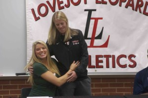 Lauren Sturm and Coach Langhening