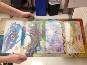 Sophomore Abby Henning's  art will be on display at Saturday's Fine Arts Festival.