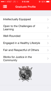 The LHS app is equipped with many features of the school, such as an in-depth look at the Graduate Profile.
