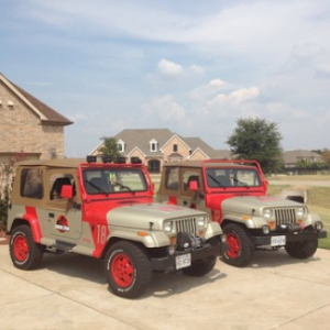 Jared and his dad have restored two jeeps so far.