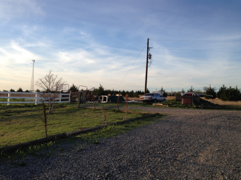 The tornado caused damage to several aspects of the property.